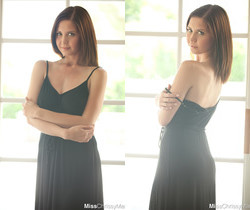 Chrissy Marie - Black Dress