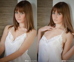 Chrissy Marie - White Lingerie