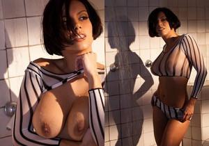 Julia Luba Takes A Hot Shower