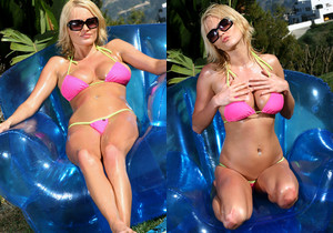 Hannah Hilton - Baby Oil & Blowup Chair