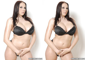 Gianna Michaels Shows Off Her Giant Oiled Up Tits