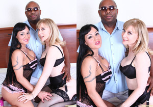 Mahina Zaltana and Nina Hartley - Interracial Threesome
