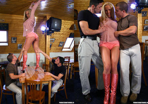 Euro Slut Judy Blond Gets Double Fucked And Facialized