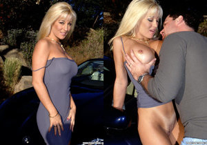 Legendary Busty Blonde Jill Kelly Takes One For The Team