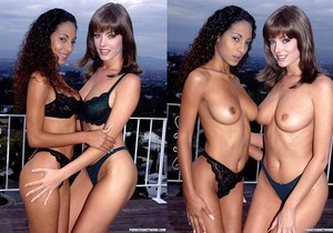 Avalon and Dee - Two Very Inviting Brunettes in a Threesome