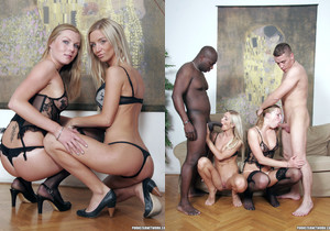 Cameron Angel and Ulrika in a Gang Bang