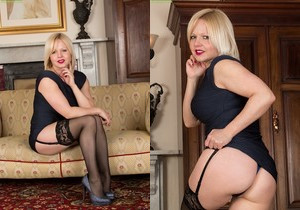 Sophie May - milf in stocking spreading