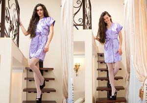 Erika Rose - Skinny Teen in stockings