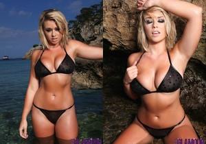 Melissa Debling teasing at the beach