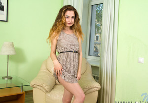 Sabrina Little - tiny teen getting nude