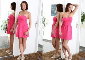 Anabella - pink dress & big teeny boobs