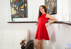Nikka - date night red dress & underwear