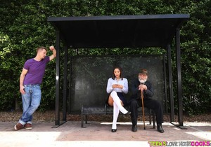 Abella Danger - Bus Bench Creepin - Teens Love Huge Cocks