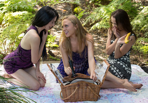 Aubrey, Nikki Next & Aiden Ashley - A Threesome Picnic Feast