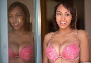 Cherry Hilson Removes Her Pink Bra And Panties