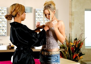 Angel Ashton, Honey Milani - Massage Palace