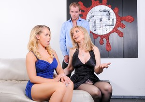 Nina Hartley, Britney Young - Mommy You And Me Make 3