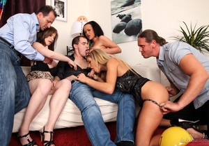 Linet Slag, Charlotte, Sunshine - Bachelor Party Orgy #04