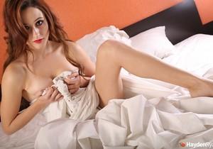 Hayden teases in her sheets