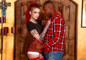 Leigh Raven - Lessons In Black Cock - Burning Angel