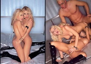 Two Sexy Blonde Sluts Swap Warm Cum - Private Classics