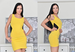 Lovenia Lux takes off her dress and spreads