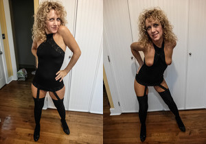 Ginger Klixen spreads her legs
