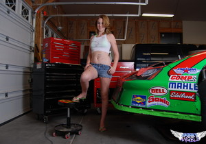 Christy - Race Car Babe - SpunkyAngels
