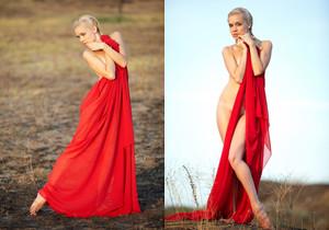 Aljena A - Red Cape 1 - Erotic Beauty