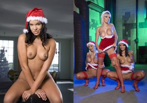 Santa's Sexy Helpers Aletta Ocean and Lara Amour