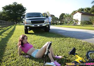 Kiley Jay - Bike Boo Boo - Teens Love Huge Cocks