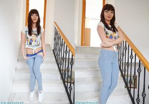 Helen G - Helen Stairs - Skin Tight Glamour