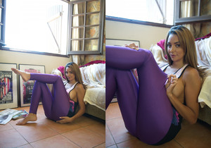 Rebecca Kelly Mauve Leggings - Skin Tight Glamour