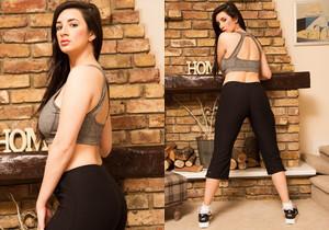 Cara Ruby Black Yoga - Skin Tight Glamour
