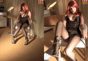 Claudia Downs - Motel Seductress - Leg Sex