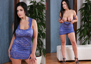 Raven haired Alexa Black teases both holes - Wet and Puffy