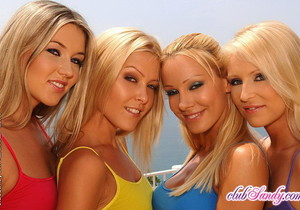 Lesbian Foursome with Sandy, Sophie, Jasmin and Cherry Jul