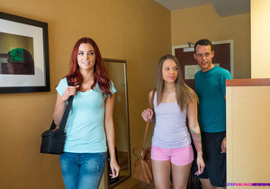 Liza Rowe - Family Vacation - Step Siblings Caught