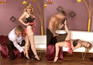 Natalia Jay - Seamed Seduction - Leg Sex