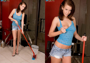 Veronica Hill - Cheeky During Chores - 18eighteen