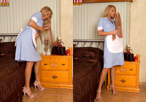 Jordan Kingsley - Leggy House Keeper Caught Red Handed