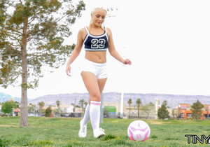 Cleo Vixen - Blonde Soccer Teen - Tiny 4K