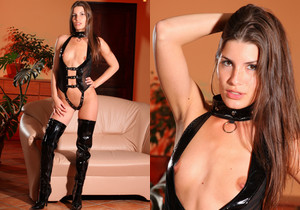 Sindy Black Pvc - Strictly Glamour