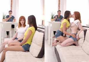 Teen Threesome Caught in the Act: Friends to Lovers