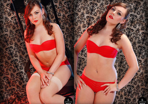 Kacie James rocks it red and raw - Spinchix