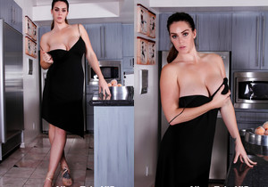 Busty Alison nude in the Kitchen - Alison Tyler
