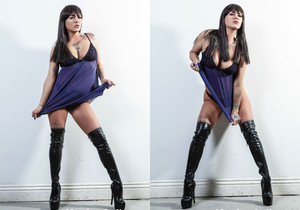 Jezebelle Bond strips down to just her boots