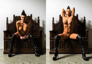 MILF Jezebelle poses in sexy black lingerie - Jezebelle Bond