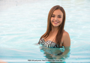At The Pool - Li Moon - Femjoy
