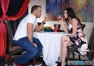 Silvia Saige Perfect Date - teases his big fat cock - Spizoo